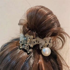 The New European And American Bear Full Of Rhinestones Super Flash Hair Ring Tie Hair Hair Accessories