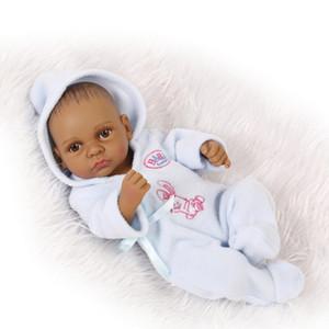 Ganzkörper-Silikon-Reborn-Baby-Puppen-Reborn-Baby-Puppen handgefertigte Reborn 11-Zoll-echt aussehendes neugeborenes Baby-Silikon-realistische Puppe FY9393