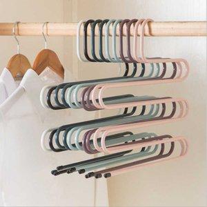 Multi-functional S-type Trouser Rack Stainless Steel Multi-layer Trouser Rack Traceless Adult Hanger