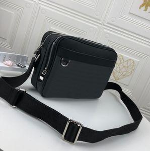 Erkek Çanta Omuz Çantaları Marka Messenger Çanta Fermuar 2021 Moda Luxurys Tasarımcılar Çanta Deri Cüzdan Çapraz Vücut Bel Paketi Sportif Hava Boyutu Dolu 29x21x8 cm