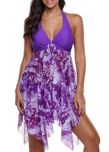 Plus Tankini Swimsuit with Skirt Women Push Up Underwired Swim 5xl One Piece Large Size Swimwear Beach Bathing Suit