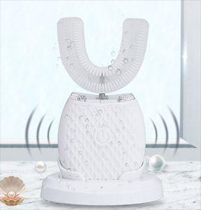 360 градусов Интеллектуальная автоматическая SONIC электрическая зубная щетка U Тип 3 режима зубной щетки USB зарядки зубов отбеливающий синий свет GGA4251