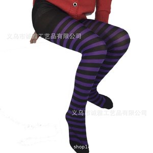2021 Winter Cosplay Striped CHildren's Stockings Fashion Striped Blood Drop Long One-piece Pantyhose Party Sports Grils Panty-hose G993GFJ