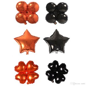 18inch Halloween Four Leaf Clover Heart Star Balloons Halloween Decorations Foil Helium Balloon Inflatable Toys Party Supplies JK1909