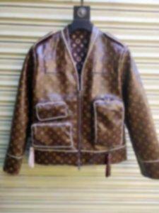 Высочайшее качество дизайнер роскошные мужские мульти карманные кожаные одежда жаккардовые буквы двойные молнии классические печати бейсбольная уличная одежда пиджака