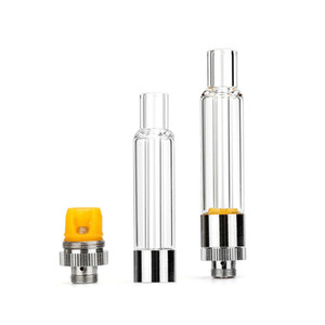 Full Glass Vape Cartridge 0.5ml 1.0ml Ceramic Coil Vaporizer Carts for Thick Oil Bottom Refilling 510 Vapor Tank