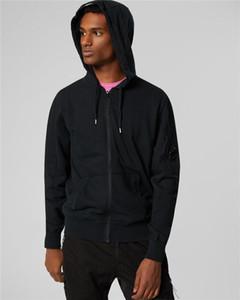 한 안경 CP 회사 후드 가을 겨울 남자 스웨터 남자 야외 재킷 크기 m-xxl 위로 당겨