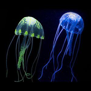 Nadado artificial Efecto brillante Efecto Medusas Decoración de acuarios Tanque de peces Underwater Live Plant Luminoso Adorno Aquatic Paisaje