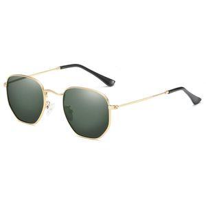 Солнцезащитные очки Vescion Ретро Квадратные Мужчины Поляризованные Металлические Зеленые Линзы 2021 Солнцезащитные Очки Для Женщин Рождественские Подарочные Предметы UV400