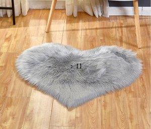 Plush Area Rugs Lovely Peach Heart Carpet Home Textile Multifunctional Living Room Heart-shaped Anti Slip Floor Mat OWA9237