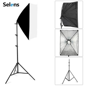 New Photography Softbox Lighting Kits 50x70CM Softbox Professional Continuous Light System For Photo Studio Equipment 2m Tripod