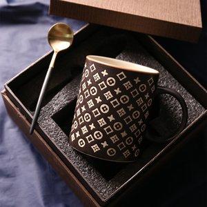 Italian Classic Style Creative Retro Mug Matte Ceramic Coffee Cup Breakfast Cup Couple's Tea Cups Mug Western Eco Friendly Trump