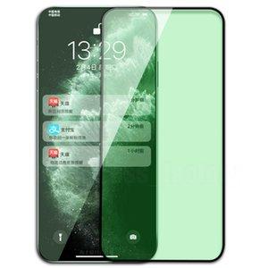 Yeşil Işık Gözleri Korumak Temperli Cam Ekran Koruyucu Tam Kapak Guard Film Patlama Kavisli Kapsama Kalkanı iPhone 13 Pro Max 12 Mini 11 XS XR X 8 7 6 6 S Artı SE