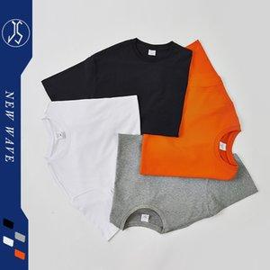 Luxury T-shirts 2021 Summer Matte 250g Off Shoulder Solid Color Cotton Brand National Round Neck Men's T-shirt