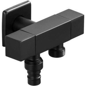 2021 New Washing Machine Copper Bathroom Corner Single Cold Garden Faucet Black Oil Outdoor Mixer Small Tap Hmkc