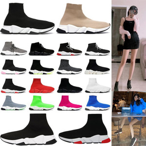 New top sneakers men women sneakers high top triple Black Red White Beige Pink Cristal Clearsole mens fashion trainer running tennis shoe