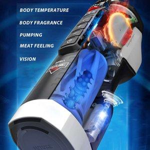 Laisse entièrement automatique Télescopique chauffage gémissant masturbateur mâle puissant sucer masturbation tasse machine jouets pour hommes