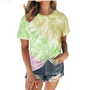 New Tee Summer Women Tie-dye Tye-Dye Shirts Shirt 2020 Womens Loose Short-sleeved T-shirt Large Sizes Ladies Tops
