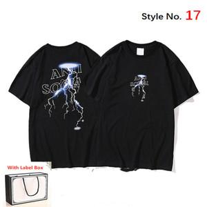 Tshirt dos homens de manga curta das mulheres de alta qualidade Tshirt Pure Algodão Verão Tees Carta Impressão Hip Hop Estilo Roupas com Caixa de Tag