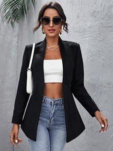 Женские костюмы Blazers Женская одежда отделяет твердый открытый передний пиджак Женская женщина куртка пальто