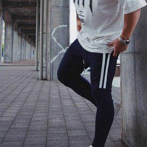 Su SaleBroek Men Bithing Breathing Casual Elastic Elastic Waist Patchwork Gym Rits Moon Jogging con tasca