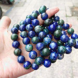 Из бисера, нитей натуральный камень Phoenix Lapis Lazuli браслеты 6 8 10 мм бусины эластичные чары моды мужчины женщины для ювелирных изделий