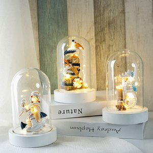 Creative led luminous Mediterranean ocean style home night light seahorse furnishings personalized indoor bedroom decorations