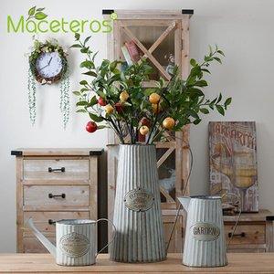 Vases Nordic Wrought Iron Vase Creative Home Simple Flower Arrangement Modern Handicraft Gardening Fashion Decoration Supplies