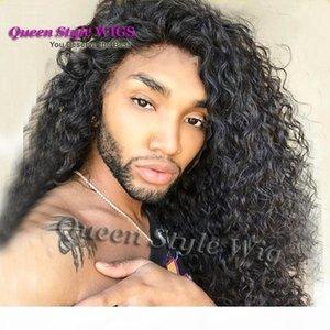 Venta al por mayor Sexy Drag Queen Queen Peinado Peluca Sintética Resistente al calor Rizado Kinky Pelucas delanteras del encaje del cabello para el arrastre Queen Hombre Daily Wigs