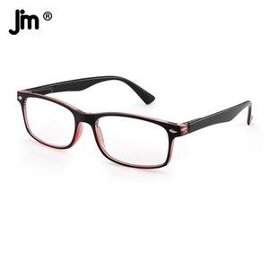 JM Spring Hinge Vintage Square Reading Glasses Women Men Magnifier Presbyopic Diopter