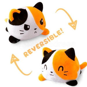 US STOCK Reversible Cat Gato Kids Soft Gift Plushie octopus Plush Animals Double-Sided Flip Cute Toys Peluches For Pulpos Child Boys Girls