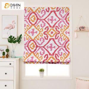 Blinds DIHIN HOME Modern Jacquard Roman For Living Room Window Treatment Roller