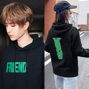 2021 Fashion Brand Same Style Style Uomo e donna con cappuccio Coppia con cappuccio Lettera allentata Tempo libero Pullover della coppia studente