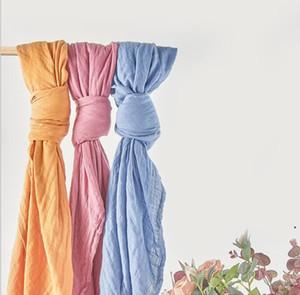 KANGOBABY Cobertor Infantil Cor Pura Gaze Envoltórios Bebê Swaddle Recém-nascido Infantil Soft Delicate Bath Towel Wrap Recém-nascido Wraps Toalhas AHB5123
