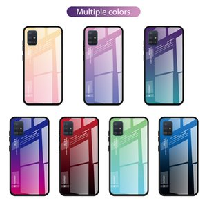 Gradient Tempered Glass Case For Samsung Galaxy A51 A71 Case On SM A515F A715F A 51 A71 Back Phone Cover For Samsung A51 Case