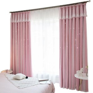 Curtain & Drapes Material Fabric Hooks Cloth Bedroom Window Luxury European Cortinas Cocina For Kids Room EA60CL
