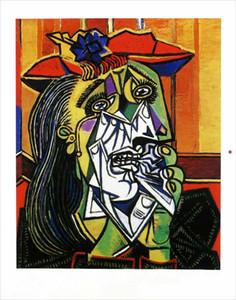 Pablo Picasso Weeping Woman Home Decor Artigianato / HD Stampa Pittura ad olio su tela Pianta della parete Immagine 210224