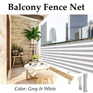 Shade Grey Stripes Balcony Fence Screen Stair Rail Mesh Anti-UV Windproof Apartment Protection Terrace Shelter Privacy Net