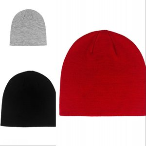 20FW black red GREY Beanie Winter Knitted Skullcap Adult Casual Hip Hop Hat Women Men Acrylic Beanie Cap Unisex Solid Color Keep Warm 301 X2