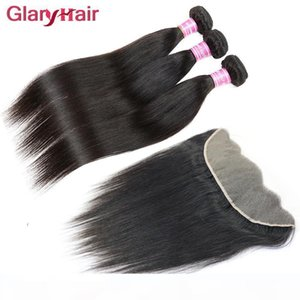 Top Selling Unprocessed Brazilian Straight Virgin Hair Bundles with 13x4 Lace Frontal Closure Remy Human Hair Wefts Weaves Closure Wholesale