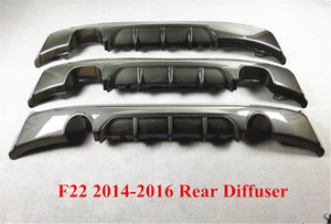 3 Styles MP Style Carbon Pattern Rear Diffuser Lip Spoiler For B-MW 2 Series F22 2014-2016 Car Accessories