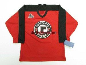 Costume Custom Quebec Remparts QMJHL Hóquei Jersey Adicionar Qualquer Número Número Mens Kids Jersey XS-5XL