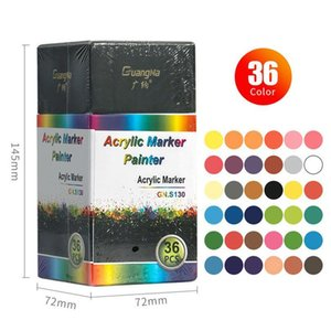 Acrylic Paint Pen Water-based Graffiti Pen 6 12 18 24 36 Color Painting Ceramic Photo Album Black Card Pen Color H jllGOE