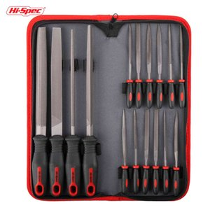 Hi-Spec 16pc File Set 200mm Flat Half Round Triangle Needle Files for Metal Glass Jewelry Wood Carving Craft Tool