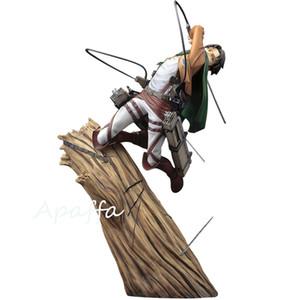 25 cm anime figura attacco su Titan Levi / Rivaille / rivale Ackerman 1/8 scala in PVC Action Figure Toys Battle Ver. Anime modello giocattolo C0220