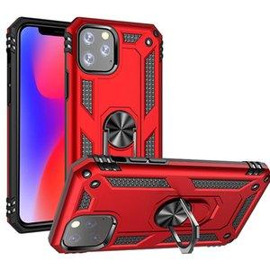 Cas d'armure pour iPhone12 11 PRO XS maximum XR 7 8 Plus Samsung S21 Ultra Note 20 Couverture Militaire Bague magnétique