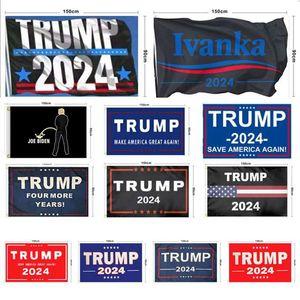 New Trump 2024 Flag U.S. Presidential Campaign Flag 90*150cm 3*5Ft Banner Flag For Home Garden Yard WWA126
