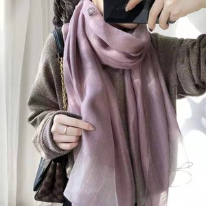 Hot Sale Silk Scarf Fashion Womens 4 Seasons Shawl Scarf Scarves Size about 180x70cm 6 Color