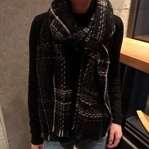 2021 designer woman scarf top cashmere fashion shawl high quality striped casual scarf for woman tasting knit scarf