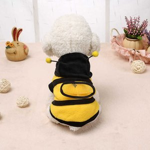 Haustier Hund Kleidung Mode Niedliche Cartoon Biene Gelbe Haustier Kleidung Hund Katze Manteljacke bequem und praktisch
